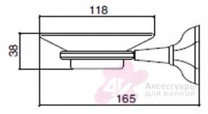 Мыльница Sbordoni Deco DE100CR настенная хром