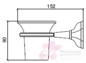 Стакан Sbordoni Deco DE101CR настенный хром