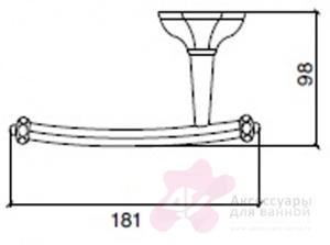 Бумагодержатель Sbordoni Deco DE102CR открытый хром
