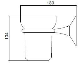 Стакан Sbordoni Flora FL101OL настенный латунь