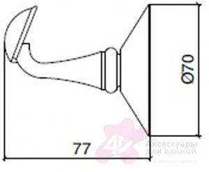 Крючок Sbordoni Flora FL107OL одинарный латунь