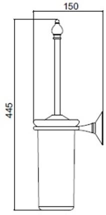 Ершик Sbordoni Flora  FL111OL для туалета латунь/керамика