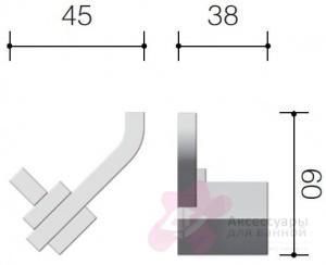 Крючок Schein Watteau 121-2 двойной хром