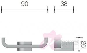 Крючок Schein Allom 221*2 двойной хром
