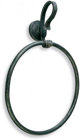 Полотенцедержатель StilHaus Flora F 07 кольцо античная черная тоскана
