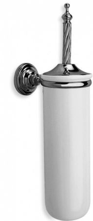 Ерш StilHaus Giunone G12(08) для туалета подвесной хром / керамика белая