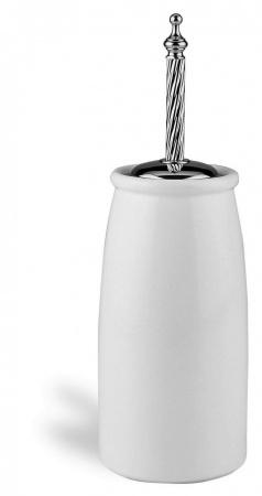 Ерш StilHaus Giunone G12a(08) для туалета напольный хром / керамика белая