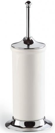 Ерш StilHaus Idra I823(08-BI) для туалета напольный хром / керамика белая
