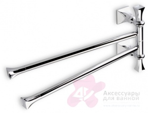 Полотенцедержатель StilHaus Prisma PR05(08) CR одинарный длина 60 см хром / керамика белая