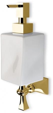 Дозатор для жидкого мыла StilHaus Prisma PR30(08-BI) CR настенный хром / керамика белая