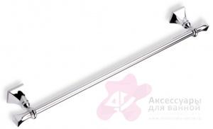 Полотенцедержатель StilHaus Prisma PR45(08) CR одинарный длина 60 см хром / керамика белая