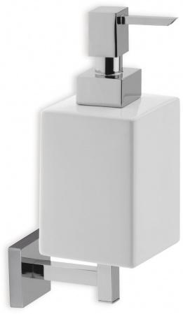 Дозатор для жидкого мыла StilHaus Urania U30(08-BI) настенный хром / керамика белая