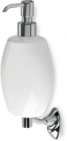 Дозатор для жидкого мыла StilHaus Zefiro ZE30(08-BI) настенный хром / керамика белая