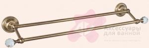 Полотенцедержатель Tiffany TW Crystal TWCR012 CR SW двойной L= 60 см хром/Swarovski