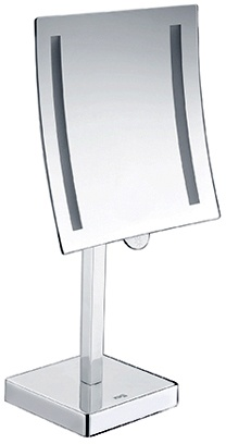 Зеркало косметическое Wasserkraft  K-1007 (3Х) с LED подсветкой хром