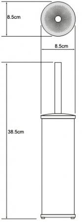 Ершик для туалета Wasserkraft K-1027 напольный хром