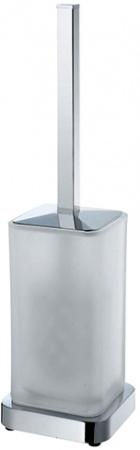 Ершик для туалета Wasserkraft K-1037 напольный хром /стекло матовое