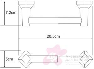 Бумагодержатель Wasserkraft Aller K-1100 K-1122 открытый хром