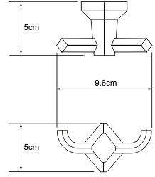 Крючок Wasserkraft Aller K-1100 K-1123 двойной хром