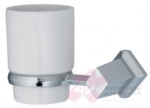 Стакан Wasserkraft Aller K-1100 K-1128C подвесной хром/керамика белая