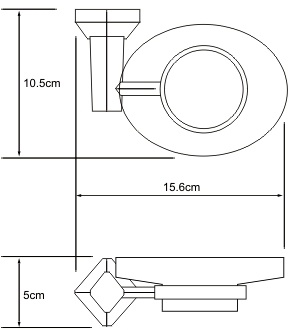 Мыльница Wasserkraft Aller K-1100 K-1129 подвесная хром/стекло матовое