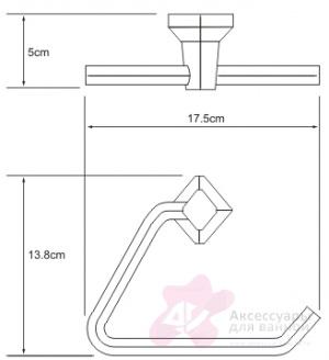 Полотенцедержатель Wasserkraft Aller K-1100 K-1161 треугольник хром