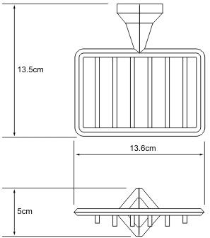 Мыльница-решетка Wasserkraft Aller K-1100 K-1169 подвесная хром