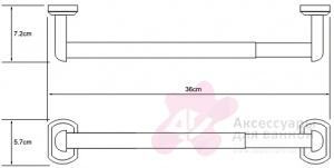 Бумагодержатель Wasserkraft Oder K-3000 K-3091 открытый 32 см бумажных полотенец хром