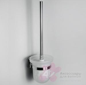 Ершик для туалета Wasserkraft Oder K-3000 K-3027 подвесной хром/стекло матовое
