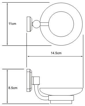 Мыльница Wasserkraft Oder K-3000 K-3029 подвесная хром/стекло матовое