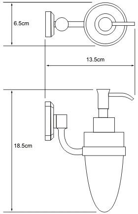 Дозатор для мыла Wasserkraft Oder K-3000 K-3099 подвесной хром/стекло матовое