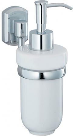 Дозатор для мыла Wasserkraft Oder K-3000 K-3099C подвесной хром/керамика белая