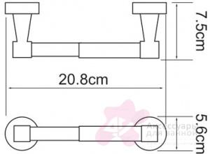 Бумагодержатель Wasserkraft Isen K-4000 K-4022 открытый хром