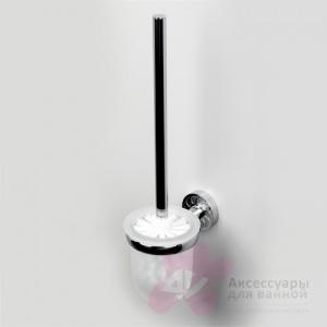 Ершик для туалета Wasserkraft Isen K-4000 K-4027 подвесной хром/стекло матовое