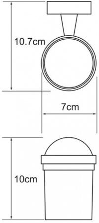 Стакан Wasserkraft Isen K-4000 K-4028 подвесной хром/стекло матовое