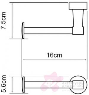 Бумагодержатель Wasserkraft Isen K-4000 K-4096 открытый хром