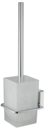 Ершик для туалета Wasserkraft Leine K-5000 K-5027 подвесной хром/стекло матовое
