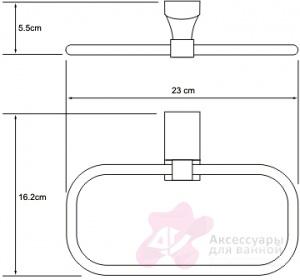 Полотенцедержатель Wasserkraft Leine K-5000 K-5060 кольцо хром