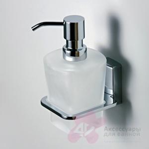 Дозатор для мыла Wasserkraft Leine K-5000 K-5099 подвесной хром/стекло матовое