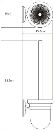 Ершик для туалета Wasserkraft Rhein K-6200 K-6227 подвесной хром/стекло матовое