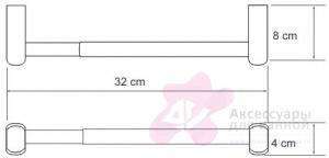 Бумагодержатель Wasserkraft Berkel K-6800 K-6891 открытый 32 см для бумажных полотенец хром