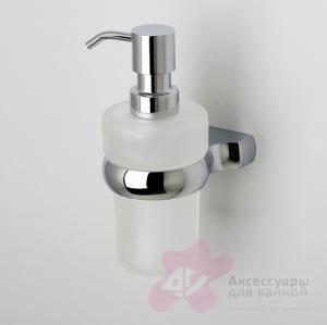 Дозатор для мыла Wasserkraft Berkel K-6800 K-6899 подвесной хром/стекло матовое