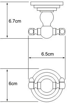 Крючок Wasserkraft Ammer K-7000 K-7023D двойной хром матовый