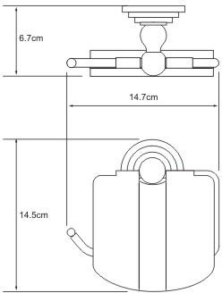Бумагодержатель Wasserkraft Ammer K-7000 K-7025 закрытый хром матовый