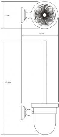 Ершик для туалета Wasserkraft Ammer K-7000 K-7027 подвесной хром матовый/стекло матовое