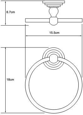 Полотенцедержатель Wasserkraft Ammer K-7000 K-7060 кольцо хром матовый
