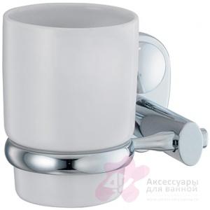 Стакан Wasserkraft Main K-9200 K-9228C подвесной хром/керамика белая