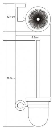 Ершик для туалета Wasserkraft Donau K-9400 K-9427 подвесной хром/стекло матовое