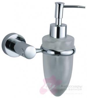 Дозатор для мыла Wasserkraft Donau K-9400 K-9499 подвесной хром/стекло матовое