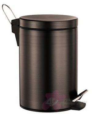 Ведро для мусора Wasserkraft Isar K-655 с педалью 5 литров темная бронза
